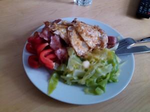 Egg & Bacon med paprika og kål