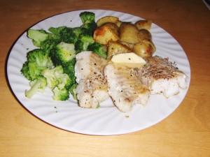 Torsk, poteter og brokkoli, ikke spesielt dyrt!