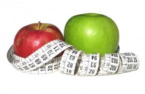 epler og målebånd