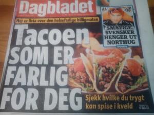 Forsiden på dagens Dagbladet